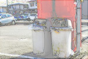 自動販売機とゴミ箱